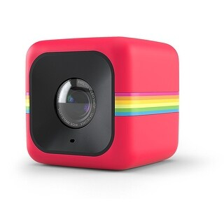Polaroid Cube+ 1440p Mini Lifestyle Action Camera with Wi-Fi & IS (Red)