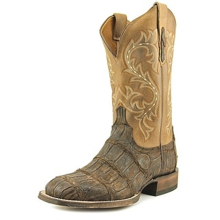 Lucchese Giant Alligator Square Toe Leather Western Boot