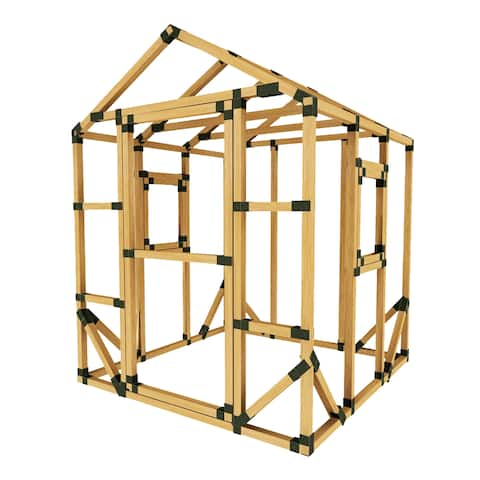 DIY E-Z Frame 6X6 Playhouse Kit - 6'x6'
