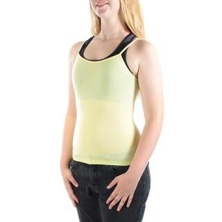 ENERGIE Womens New 1597 Yellow Jewel Neck Sleeveless Casual Top Juniors M B+B