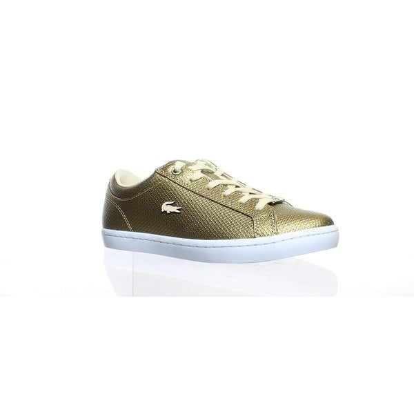 new style 26b6f b4d26 Shop Lacoste Womens Straightset Gold Fashion Sneaker Size ...