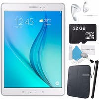 "Samsung 16GB Galaxy Tab A 9.7"" Wi-Fi Tablet (White) Bundle with Black Case"