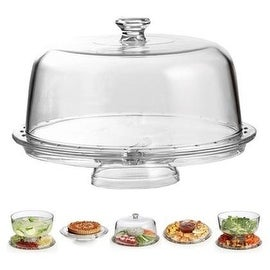 Palais Glassware High Quality Clear Glass Multifunctional Cake and Serving Stand - Elegent Punch Bowl and Serving Base