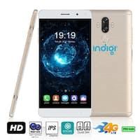 Indigi GSM Unlocked 4G LTE 6.0in Android 7 Nougat Smartphone (2SIM + Octa-Core @ 1.3ghz + Fingerprint Scanner) (Gold)