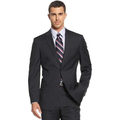 Tommy Hilfiger Mens Regular Fit Navy Striped Wool Sportcoat 42R Suit Separate
