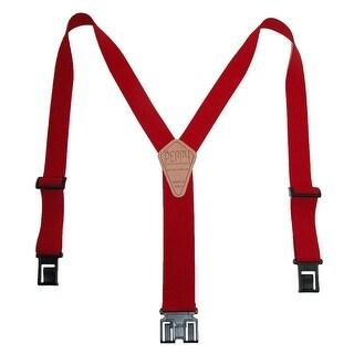 Perry Suspenders Men's Tall Elastic Hook End Suspenders (Option: Grey)