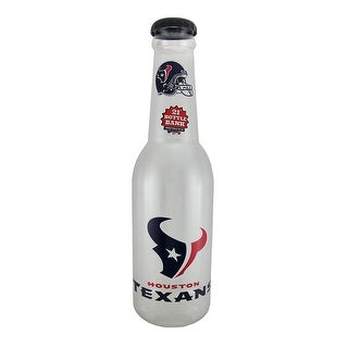 NFL Houston Texans Jumbo 21 in. Officially Licensed Bottle Bank - Clear