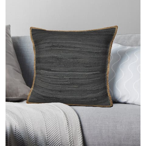 LR Home Anthracite Throw Pillow 20 inch