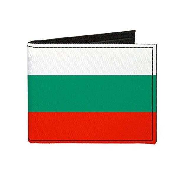 Buckle-Down Canvas Bi-fold Wallet - Bulgaria Flag Accessory