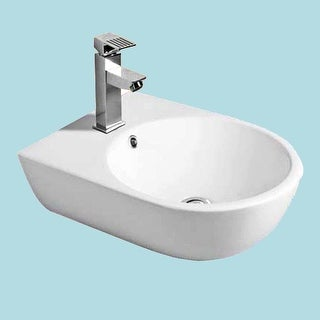 Small Wall Mount Bathroom Sink Above Counter Vessel White