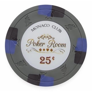 13.5 g Monaco Club Poker Chip, Roll of 25 - Dollar 0.25