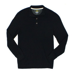 Club Room NEW Black Mens Size 2XL Mock Neck Waffle Knit Thermal Sweater