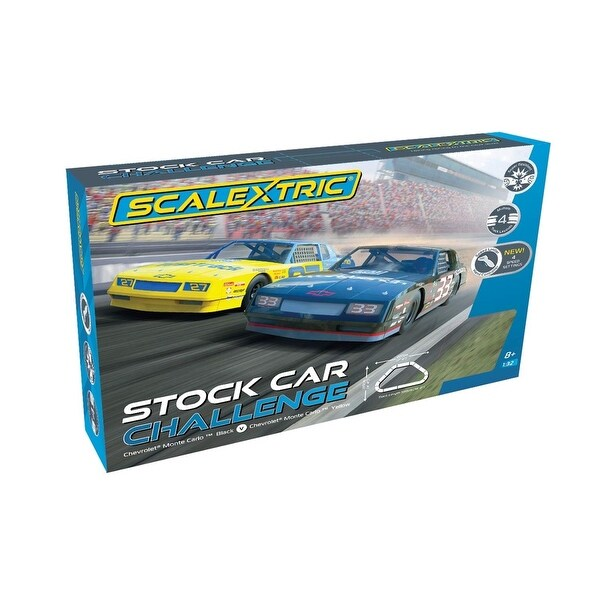Scalextric Stock Car Challenge 1:32 Race Track Slot Car Set C1383T. Opens flyout.