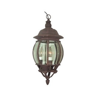 Woodbridge Lighting 61005-RTP 1 Light Outdoor Pendant with Clear Glass from the Basic Outdoor Collection