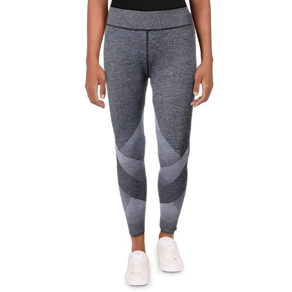 Splendid Women's Heathered Colorblock Quick Dry Activewear Fitness Leggings