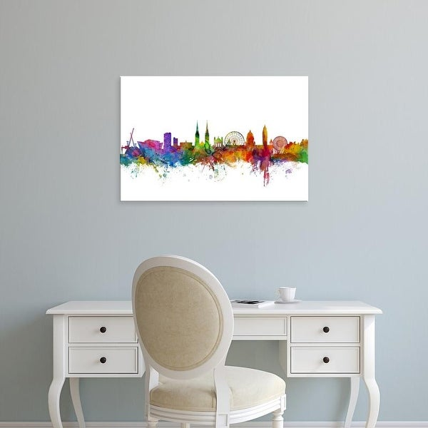 Easy Art Prints Michael Tompsett's 'Belfast Northern Ireland Skyline' Premium Canvas Art