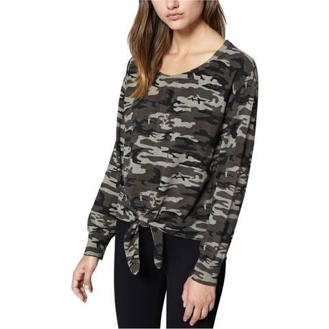 Sanctuary Clothing Womens Camo Tie Front Basic T-Shirt