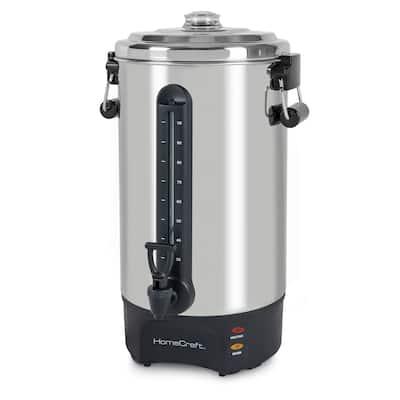 HomeCraft HCCU100SS Quick-Brewing 1500-Watt Automatic 100-Cup Coffee Urn, Stainless Steel