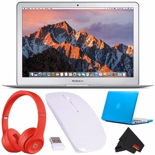 "Apple 13.3"" MacBook Air 128GB SSD + Beats by Dr. Dre Beats Solo3 Wireless Headphones (Red) + Optical Wireless Mouse Bundle"