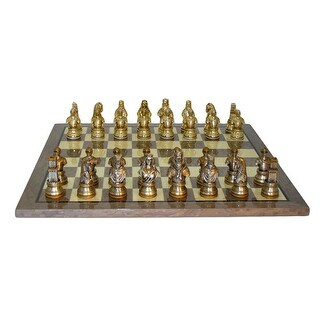 Camelot Pewter Chess Set Grey Briar Board - Multicolored