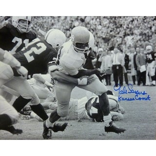 "Gale Sayers Autographed Kansas Jayhawks 16x20 Photo w""KANSAS COMET"" JSA"