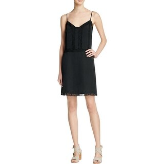 Joie Womens Slip Dress Silk Lace Trim