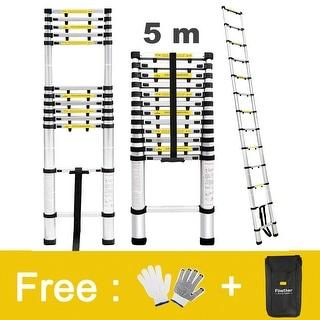 16.4 ft Aluminum Telescopic/Telescoping Loft Extension Multi-Purpose Ladder