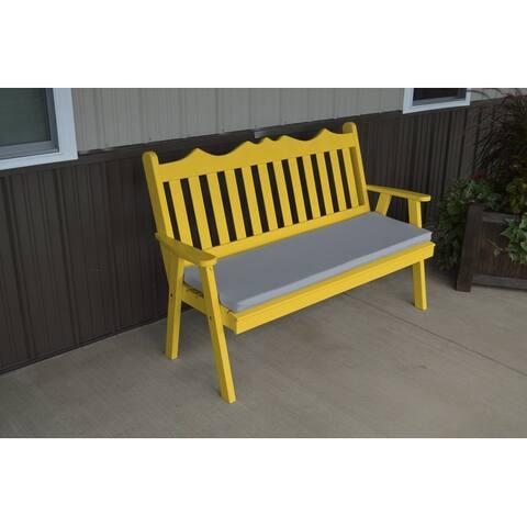 Pine 4' Royal English Garden Bench