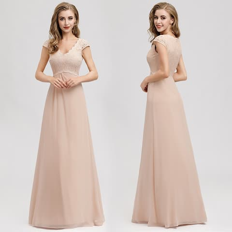 Ever-Pretty Women Elegant Lace V-neck Prom Party Dresses for Women 07997
