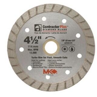 """MK Diamond 166999 Dry Cutting Continuous Rim Diamond Blade, 4.5"""""""