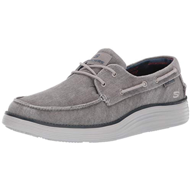 Skechers Mens Status 2.0-Lorano Moc Toe Canvas Deck Shoe Oxford