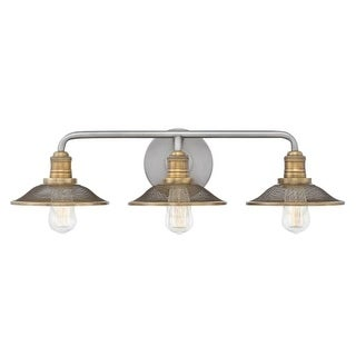 "Hinkley Lighting 5293AN Rigby 3 Light 27"" Wide Bathroom Vanity Light with Mesh Shades (2 options available)"