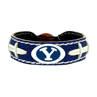 BYU Cougars Team Color NCAA Gamewear Leather Football Bracelet