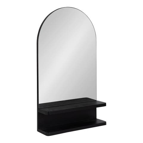 Kate and Laurel Astora Arch Mirror with Shelf - 18x30