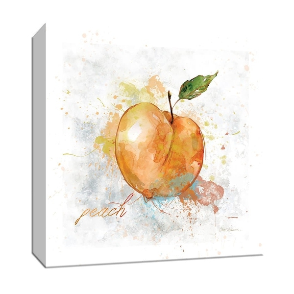 """PTM Images 9-147102 PTM Canvas Collection 12"""" x 12"""" - """"Fresh Peach"""" Giclee Fruits & Vegetables Art Print on Canvas"""