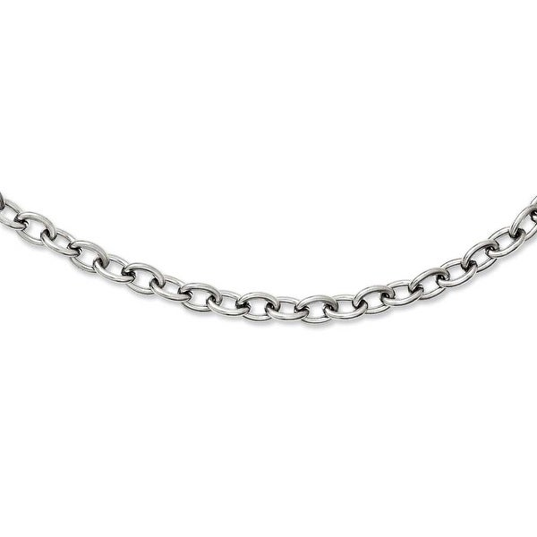 Chisel Stainless Steel Round Interchangeable Medium Anchor Chain (7 mm) - 20 in
