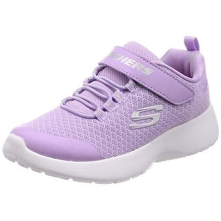 Skechers Kids Girls Dynamight- Rally Racer Sneaker, Lavender, Big