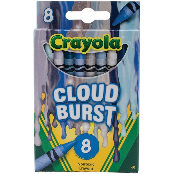 Crayola Meltdown Crayons 8/Pkg-Cloud Burst