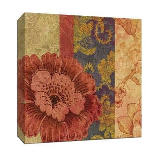 "PTM Images 9-153358  PTM Canvas Collection 12"" x 12"" - ""Bohemian Chic I"" Giclee Flowers Art Print on Canvas"
