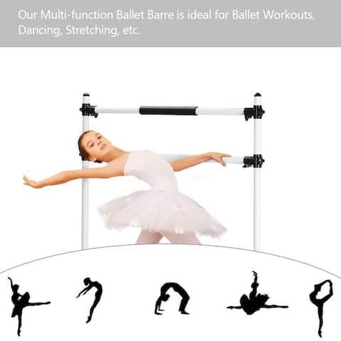 ZENOVA Ballet Barre Dance Barre,Portable and Light Weight Freestanding Dance Bar for Kids Stretch Bar - N/A