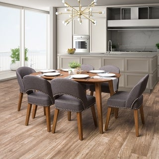 Link to CorLiving Tiffany Wood Stained Dining Set, 7pc Similar Items in Dining Room & Bar Furniture