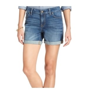Tommy Hilfiger NEW Stonewashed Blue Women's Size 16 Cuffed Denim Shorts
