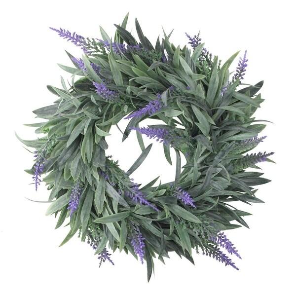 """10"""" Artificial Dusty Purple Decorative Springtime Wispy Lavender Wreath"""