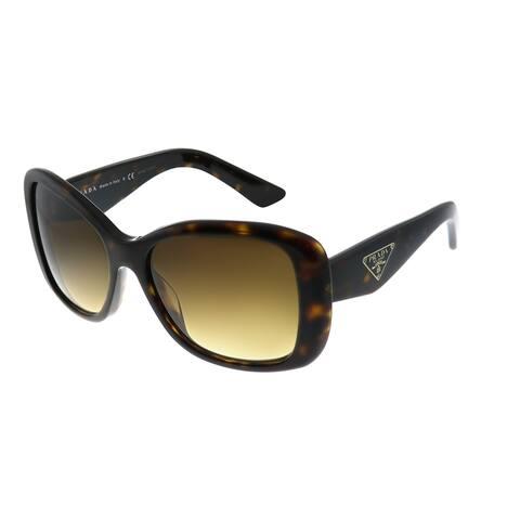 Prada Heritage PR 32PS 2AU6S1 Womens Havana Frame Brown Gradient Lens Sunglasses