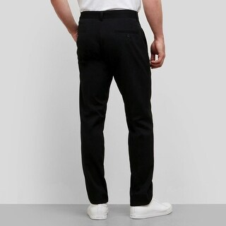 Kenneth Cole Mens Slim-Fit Sustainable Chino Pants Black-38x29