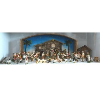 """52-Piece Religious Christmas Nativity Village Set with Holy Family 31.5"""""""