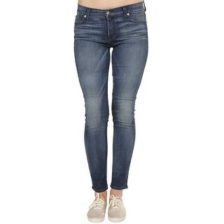 7 For All Mankind The Skinny Jeans in Summitt Blue