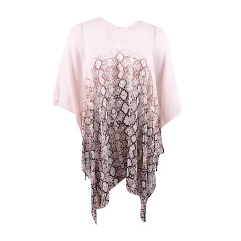 Calvin Klein Women's Side Tie Chiffon Caftan Cover-Up (L, Nectar) - Nectar - L