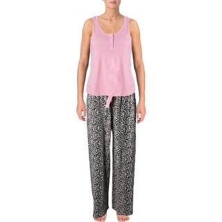 Body Frosting Womens Pajama Set Cotton 2PC Tan L