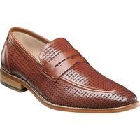 Stacy Adams Men's Belfair Moc Toe Penny Loafer 25165 Cognac Leather